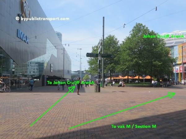 amsterdam johan cruijff arena met openbaar vervoer by public transport 05