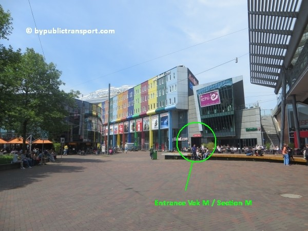 amsterdam johan cruijff arena met openbaar vervoer by public transport 06
