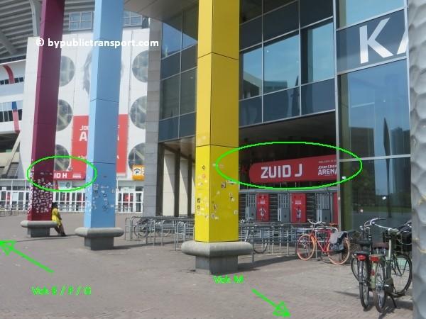 amsterdam johan cruijff arena met openbaar vervoer by public transport 11