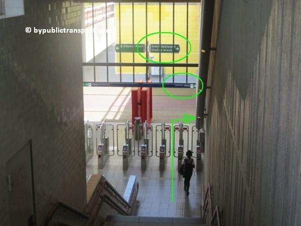 amsterdam johan cruijff arena met openbaar vervoer by public transport 12