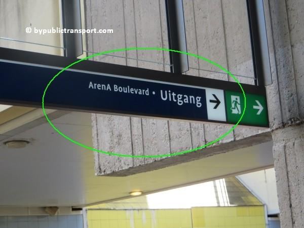 amsterdam johan cruijff arena met openbaar vervoer by public transport 14