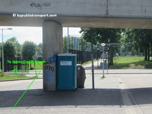 amsterdam johan cruijff arena met openbaar vervoer by public transport 16