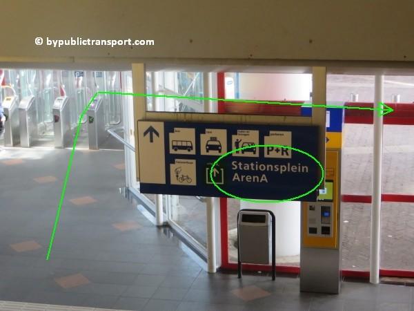 amsterdam johan cruijff arena met openbaar vervoer by public transport 18