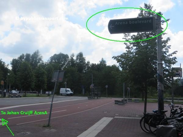 amsterdam johan cruijff arena met openbaar vervoer by public transport 19