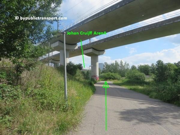 amsterdam johan cruijff arena met openbaar vervoer by public transport 24