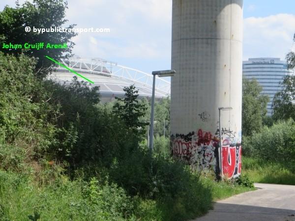 amsterdam johan cruijff arena met openbaar vervoer by public transport 25