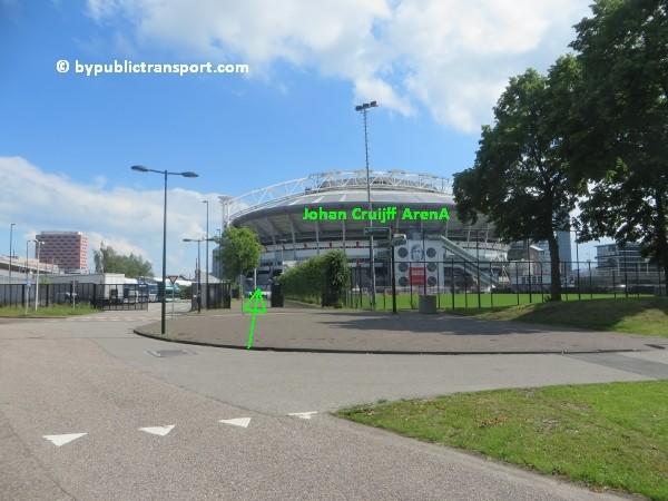 amsterdam johan cruijff arena met openbaar vervoer by public transport 27