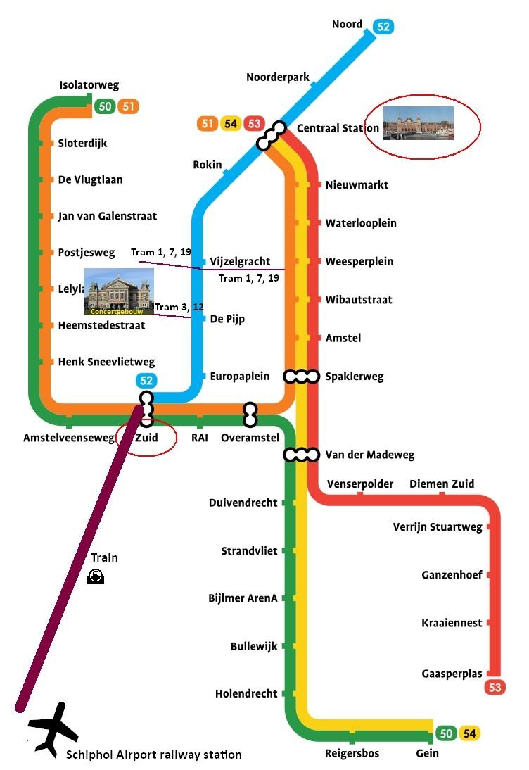 amsterdam metro map plan het concertgebouw amsterdam amsterdam