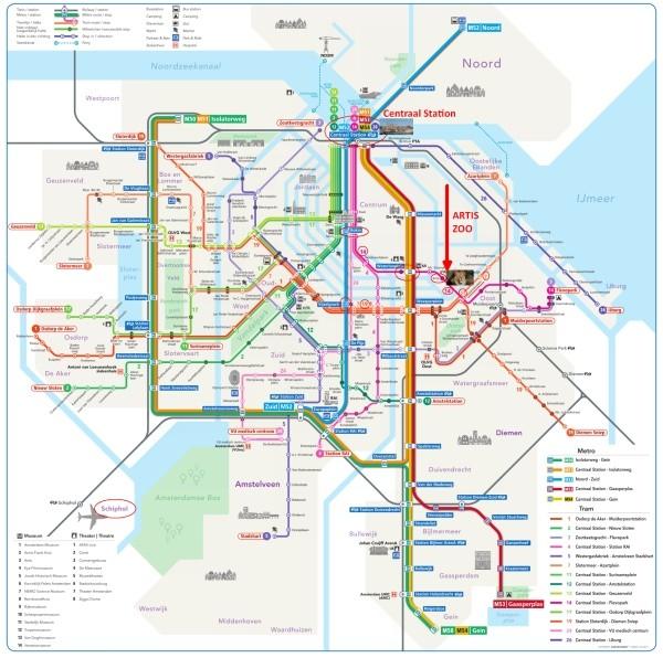 amsterdam metro tram map plan artis zoo amsterdam 600x596 1