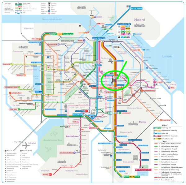 amsterdam metro tram map plan nationaal holocaust namenmonument