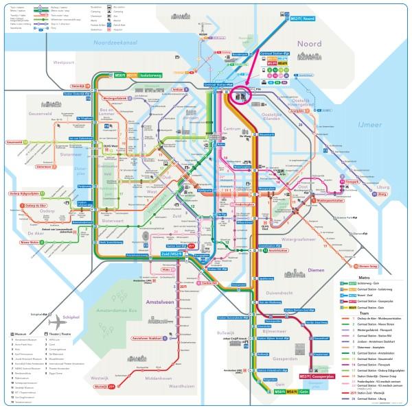 amsterdam metro tram map plan oba oosterdok library 600 x 598