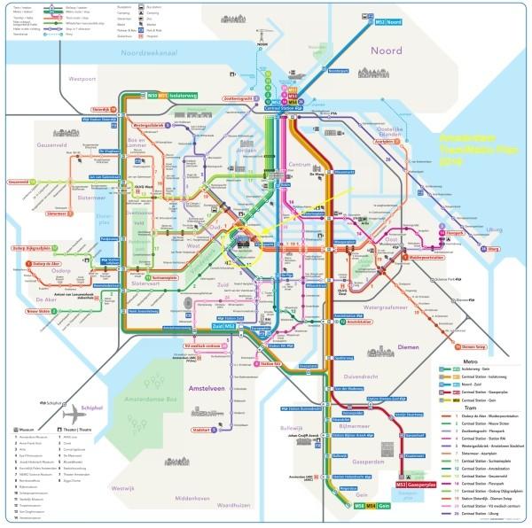 amsterdam metro tram map plan rijksmuseum 600 x 596
