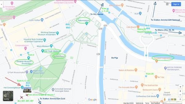 concertgebouw amsterdam tram metro stops nearby 600 x 337
