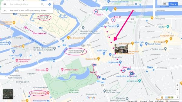 dappermarkt amsterdam tram metro stops nearby 600 x 337