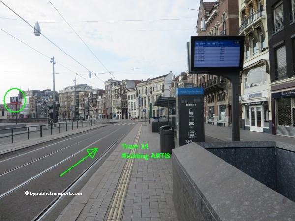 hoe kom ik bij artis amsterdam met het ov openbaar vervoer by public transport 44