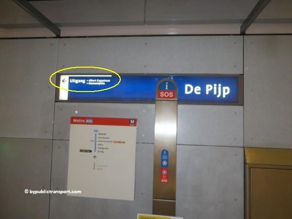 hoe kom ik bij de albert cuypmarkt amsterdam met het ov openbaar vervoer by public transport 01