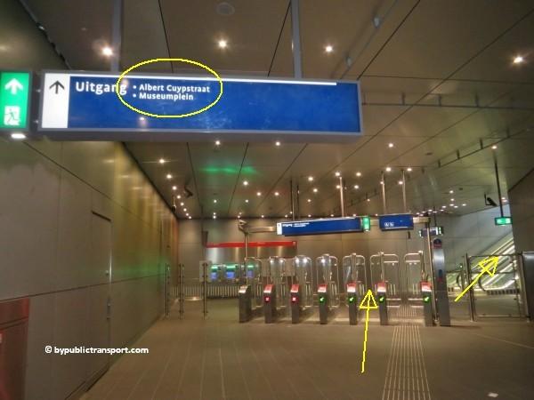 hoe kom ik bij de albert cuypmarkt amsterdam met het ov openbaar vervoer by public transport 04