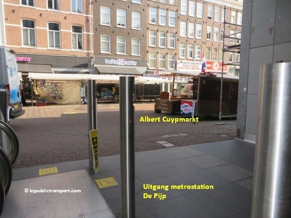 hoe kom ik bij de albert cuypmarkt amsterdam met het ov openbaar vervoer by public transport 06