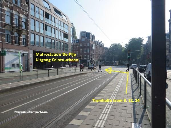 hoe kom ik bij de albert cuypmarkt amsterdam met het ov openbaar vervoer by public transport 07
