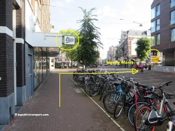 hoe kom ik bij de albert cuypmarkt amsterdam met het ov openbaar vervoer by public transport 12