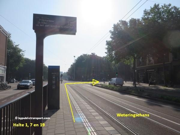 hoe kom ik bij de albert cuypmarkt amsterdam met het ov openbaar vervoer by public transport 15