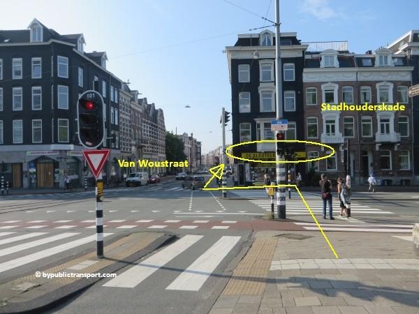hoe kom ik bij de albert cuypmarkt amsterdam met het ov openbaar vervoer by public transport 19