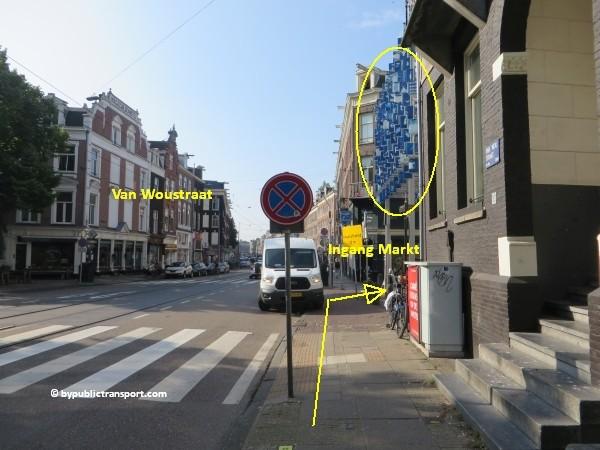 hoe kom ik bij de albert cuypmarkt amsterdam met het ov openbaar vervoer by public transport 21