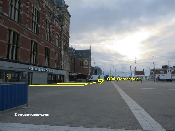 hoe kom ik bij de centrale bibliotheek oba oosterdok in amsterdam met het ov openbaar vervoer by public transport 07