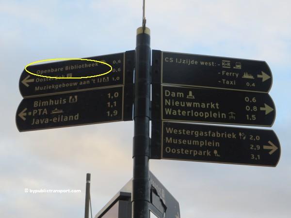 hoe kom ik bij de centrale bibliotheek oba oosterdok in amsterdam met het ov openbaar vervoer by public transport 09