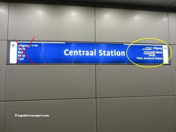 hoe kom ik bij de centrale bibliotheek oba oosterdok in amsterdam met het ov openbaar vervoer by public transport 13