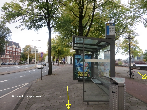 hoe kom ik bij de centrale bibliotheek oba oosterdok in amsterdam met het ov openbaar vervoer by public transport 27