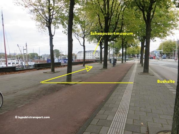 hoe kom ik bij de centrale bibliotheek oba oosterdok in amsterdam met het ov openbaar vervoer by public transport 28