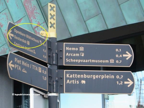 hoe kom ik bij de centrale bibliotheek oba oosterdok in amsterdam met het ov openbaar vervoer by public transport 35