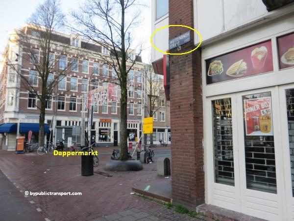 hoe kom ik bij de dappermarkt amsterdam met het ov openbaar vervoer by public transport 13