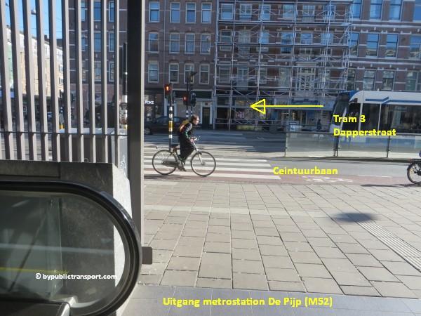 hoe kom ik bij de dappermarkt amsterdam met het ov openbaar vervoer by public transport 19