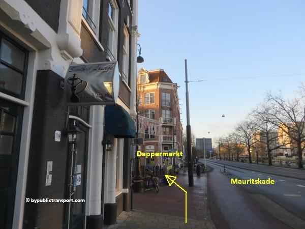 hoe kom ik bij de dappermarkt amsterdam met het ov openbaar vervoer by public transport 27
