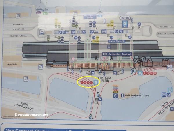 hoe kom ik bij de noordermarkt amsterdam met het ov openbaar vervoer by public transport 03