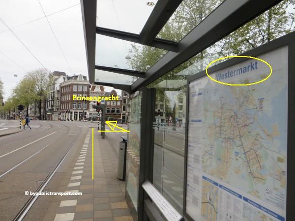 hoe kom ik bij de noordermarkt amsterdam met het ov openbaar vervoer by public transport 05