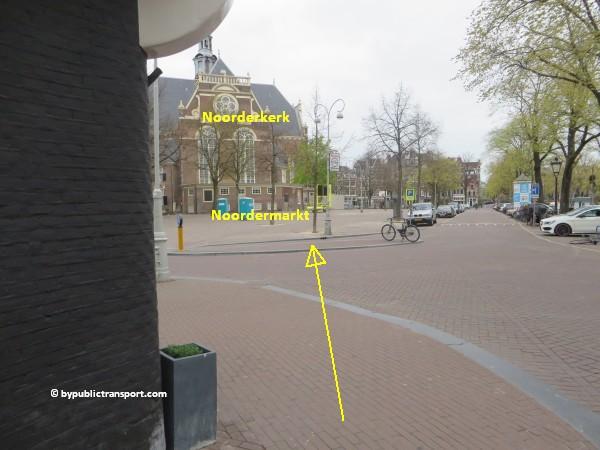 hoe kom ik bij de noordermarkt amsterdam met het ov openbaar vervoer by public transport 11