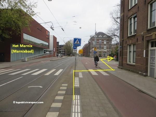 hoe kom ik bij de noordermarkt amsterdam met het ov openbaar vervoer by public transport 14