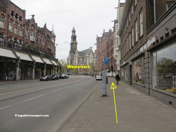 hoe kom ik bij de noordermarkt amsterdam met het ov openbaar vervoer by public transport 36