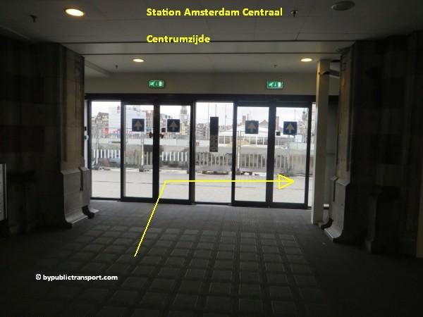 hoe kom ik bij de ten katemarkt amsterdam met het ov openbaar vervoer by public transport 01