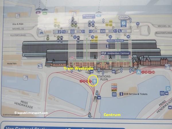 hoe kom ik bij de ten katemarkt amsterdam met het ov openbaar vervoer by public transport 03