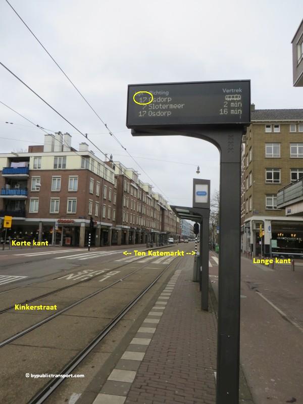 hoe kom ik bij de ten katemarkt amsterdam met het ov openbaar vervoer by public transport 05