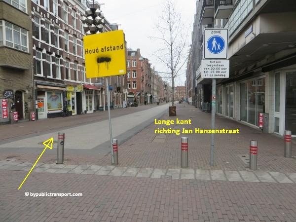 hoe kom ik bij de ten katemarkt amsterdam met het ov openbaar vervoer by public transport 08
