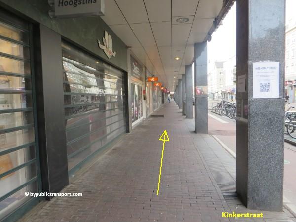 hoe kom ik bij de ten katemarkt amsterdam met het ov openbaar vervoer by public transport 13