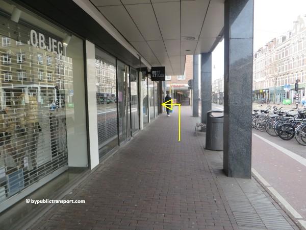 hoe kom ik bij de ten katemarkt amsterdam met het ov openbaar vervoer by public transport 14