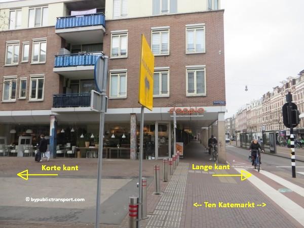 hoe kom ik bij de ten katemarkt amsterdam met het ov openbaar vervoer by public transport 15