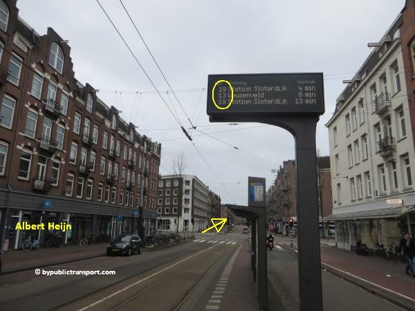 hoe kom ik bij de ten katemarkt amsterdam met het ov openbaar vervoer by public transport 16