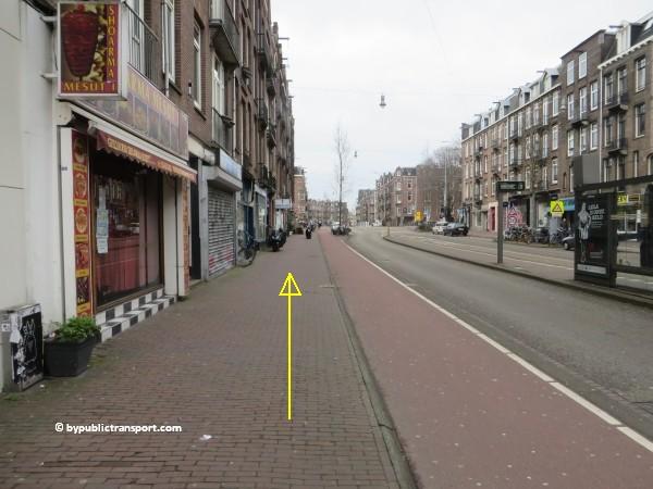 hoe kom ik bij de ten katemarkt amsterdam met het ov openbaar vervoer by public transport 18